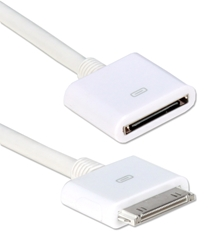 1-Meter 30-Pin Male to Female Dock Extension Cable for iPod/iPhone & iPad/2/3 ACX-1M 037229000313 Apple Dock Extension Cable, 30-pin M/F, 1-Meter, White 907329 NZ0925 ACX1M ACX-1M  cables  meters  2131 IMCE microcenter Chesrown Discontinued