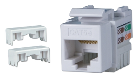 350MHz CAT5e 110 White RJ45 Keystone Jack C5JACKBWE 037229715293 Category 5e - C5 Basic Wall Plate Assemblies, Keystone Jack, 110 Base, White RJ45 Enhanced KJ3-CE-USWHNA 541268  C5JACKBWE C5JACKBWE      2192  microcenter Eckhardt Discontinued