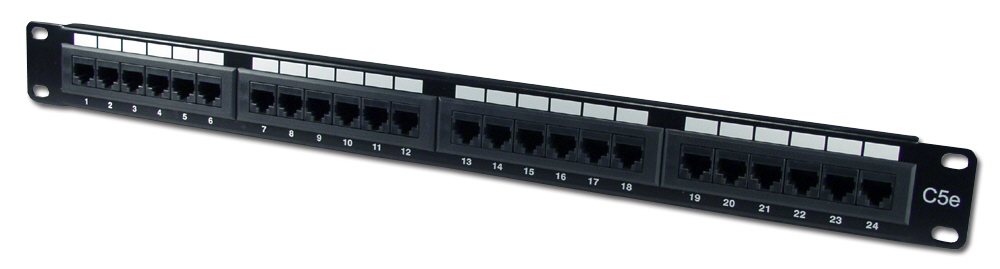 24Port 350MHz CAT5e/RJ45 110Block Patch Panel C5PNL-24E 037229715323 Category 5e - Patch Panel, 24 Ports, Enhanced, T568A/B 110 Block P24T-K11-CEC/XX 541631  C5PNL24E C5PNL-24E      2203  microcenter Eckhardt Discontinued