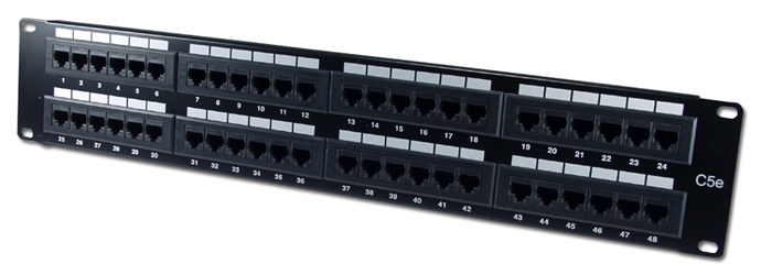 48Port 350MHz CAT5e/RJ45 110Block Patch Panel C5PNL-48E 037229715347 Category 5e - Patch Panel, 48 Ports, Enhanced, T568A/B 110 Block P48T-K11-CEC/XX 541821  C5PNL48E C5PNL-48E      2204  microcenter Michael Weiler Discontinued