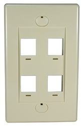 4Port Beige Wall Plate for Modular Keystone Jack C5WP-4P 037229714739 Category 5 - C5 Basic Wall Plate Assemblies, Wall Plate, Beige, 4 Ports C5WP-4PW  JE317-V4/WH-UN 539460  C5WP4P C5WP-4P      2212  microcenter Eckhardt Discontinued