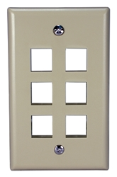 6Port Beige Wall Plate for Modular Keystone Jack C5WP-6P 037229714746 Category 5 - C5 Basic Wall Plate Assemblies, Wall Plate, Beige, 6 Ports C5WP-6PW  JE317-V6/WH-UN 539577  C5WP6P C5WP-6P      2213  microcenter Eckhardt Discontinued