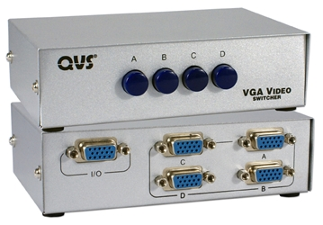 4Port HD15 VGA/SXGA Manual Switch CA298-4P 037229325812 Manual Dataswitcher - 4x1 ABCD SVGA/SXGA Video Switcher with Push Button, HD15F Ports CA298-4S  WSS-GS02 865030 KV6466 CA2984P CA298-4P      2260 IMCE microcenter Edward Matthews Approved