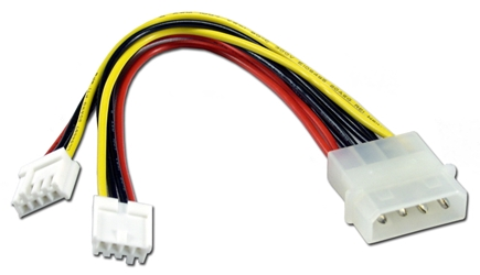 "6 Inches Internal Drive Mini4Pin Power Splitter Cable CC2126Y 037229212662 Cable, Internal Drives or Floppy Power ""Y""  Splitter 4Pin to Two Mini 4Pin Adaptor - (2) 3?"", 6"" 648519  CC2126Y CC2126Y adapters adaptors cables    2377  microcenter Eshelman Discontinued"