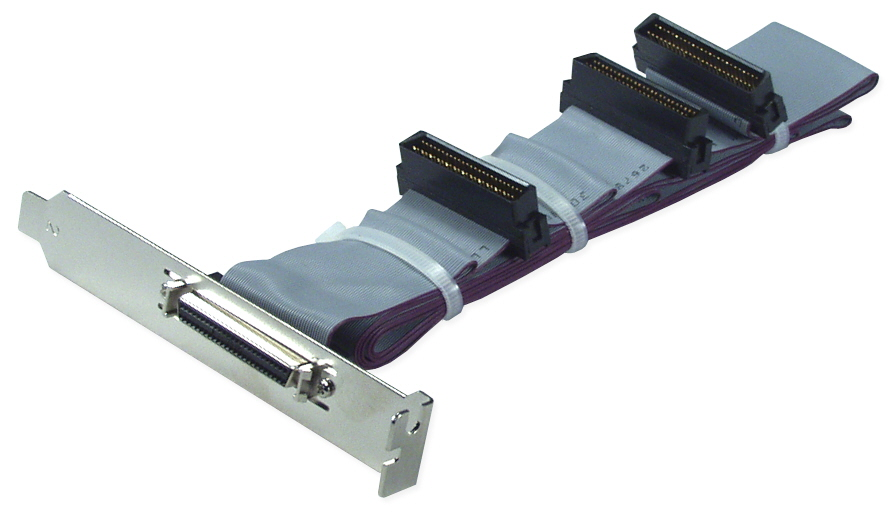 "50 Inches SCSI HPDB50 (MicroD50) Dual Drives Ribbon Cable plus External Port CC2212-2P 037229220742 Cable, Add a HPDB50 External Port from Internal SCSI, (3)HPDB50M/(1)HPDB50F with Bracket, 50"" CC22122P CC2212-2P  cables    2487"