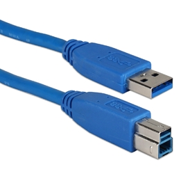 10ft USB 3.0/3.1 Compliant 5Gbps Type A Male to B Male Blue Cable CC2219C-10 037229230017 USB 3.0 Certified Super-Speed Cables for Printer, Scanner, External Drive and PC/Hub, A/B M/M, 10ft 590513 TW8094 CC2219C10 CC2219C-10  cables feet foot   2507 IMCE microcenter Edward Matthews Approved