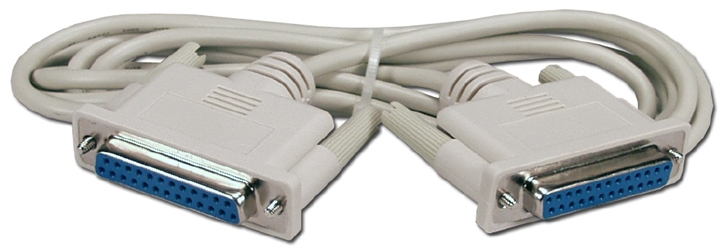 6ft DB25 Female to Female RS232 Serial Null Modem Cable CC345-06 037229345063 Cable, Serial RS232 Null Modem, DB25F/F, 6ft (HP 17225F) 639302  CC34506 CC345-06  cables feet foot   2647  microcenter  Discontinued