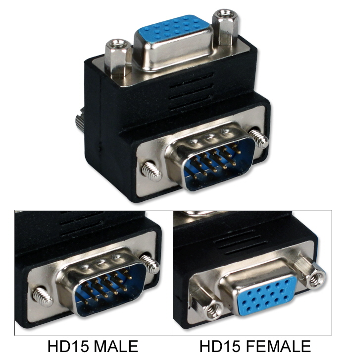 VGA HD15 Up-Angle Male to Female Video Adaptor CC388A-MFU 037229422566 VGA Video Adaptor, Right-Angle/UP, HD15M/F 333336  CC388AMFU CC388A-MFU adapters adaptors     2702  microcenter Edward Matthews Approved