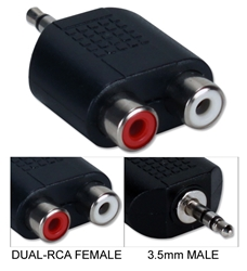 3.5mm Mini-Stereo Male to Dual RCA Female Speaker Adaptor CC399MFA 037229399103 Adaptor, Multimedia, Speaker - 3.5mm Male/(2) RCA Female 220939 TW8106 CC399MFA CC399MFA adapters adaptors     2777 IMCE microcenter Edward Matthews Approved