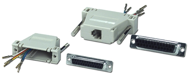 DB25 Female to RJ12 Female Serial/Terminal Modular Adaptor CC435 037229334357 Adaptor, Serial RS232 to RJ12/RJ11 6Wires Modular, RJ12F/DB25F (Custom Pin-Out Application) 571521  CC435 CC435 adapters adaptors     2825  microcenter Michael Weiler Approved