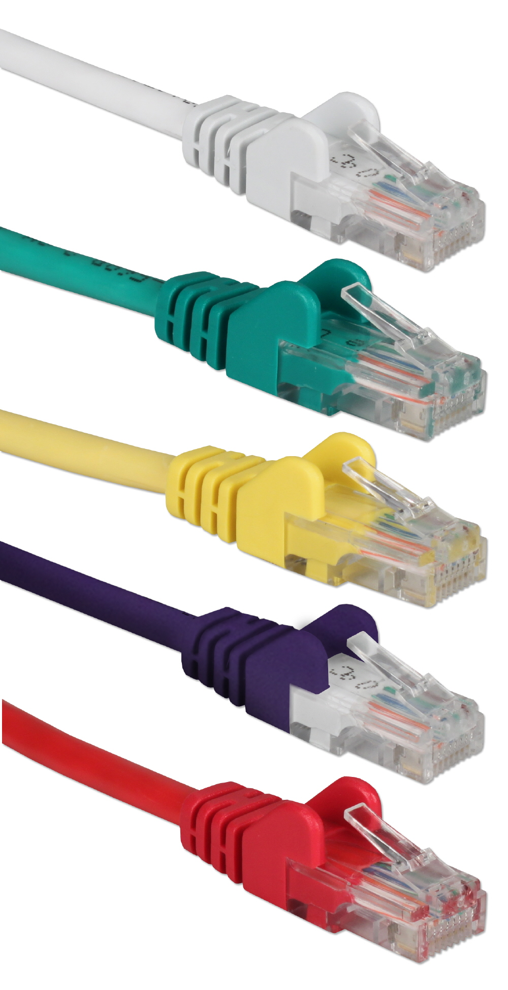 5-Pack 3ft 350MHz CAT5e/Ethernet Flexible Snagless Multi-Color Patch Cords CC5-03RP 037229710816 Cable, 5-Pack CAT5e/RJ45/UTP Ethernet LAN/Network Hub/DSL/CableModem/Patch Cord, Flexible/Stranded with Snagless/Molded Boots, Rainbow Colors, 3ft CC711-03 CC503RP CC5-03RP  cables feet foot