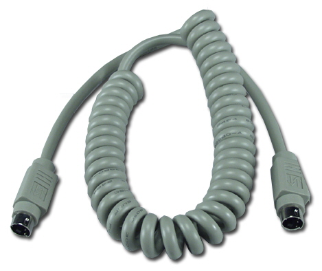 6ft Mini4 Male to Male Apple/Mac ADB Coiled Keyboard Cable CC520-06 037229520064 Cable, Straight Thru, Keyboard/Mouse - Coiled Type, Apple/Mac ADB, Mini4M/M, 6ft CC52006 CC520-06  cables feet foot   2846