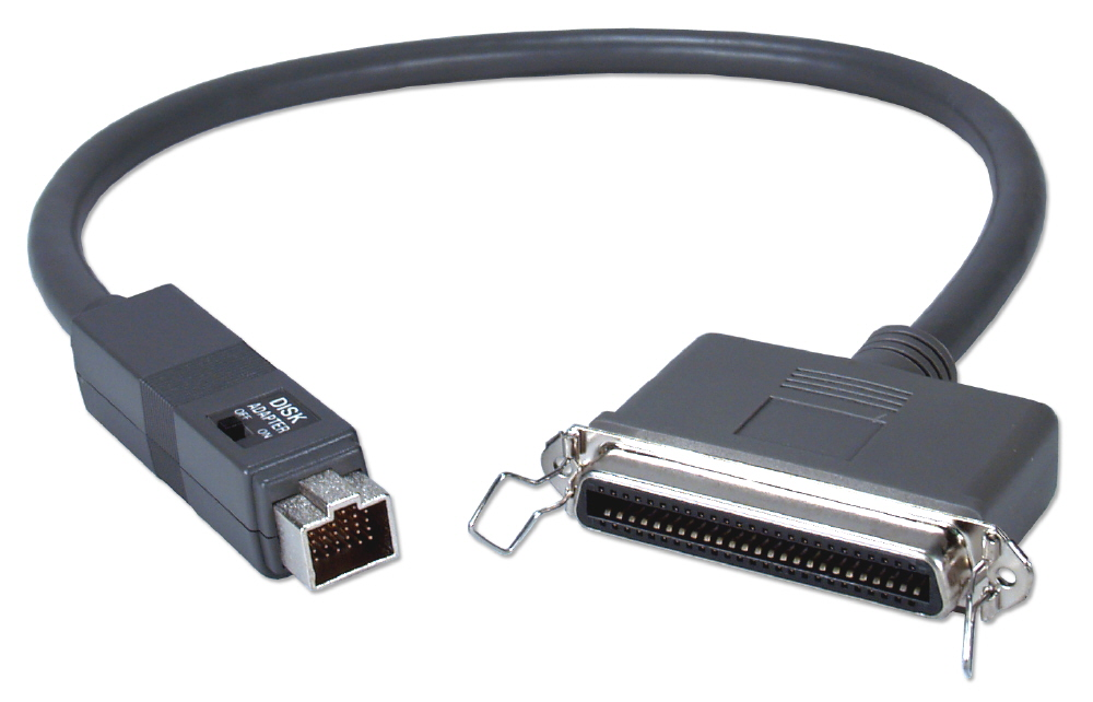 2ft Apple PowerBook HDI30 to SCSI Centronics50 Female/Docking Dual Use Cable CC553D-02 037229545050 Cable, Apple/Mac PowerBook to SCSI Device or Docking Station, Switchable HDI30M/Cen50F, 2ft CC553D02 CC553D-02  cables feet foot   2889