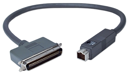 2ft Apple PowerBook HDI30 to SCSI Centronics50 Male/Docking Dual Use Cable CC554D-02 037229545067 Cable, Apple/Mac PowerBook to SCSI Device or Docking Station, Switchable HDI30M/Cen50M, 2ft CC544D-02     CC554D02 CC554D-02  cables feet foot   2891