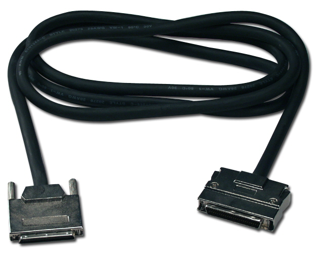 6ft Ultra320SCSI LVD VHDCen68 (.8mm VHDCI) Male to HPDB50 (MicroD50) Male Premium Cable CC621D-06 037229609042 Cable, .8mm UltraSCSI Up to 160/320MBps (SCSI V)/Ultra2 & 3/LVD to SCSI II Device, VHDCen68M/HPDB50M, 6ft 461707  CC621D06 CC621D-06  cables feet foot   2914  microcenter Michael Weiler Discontinued