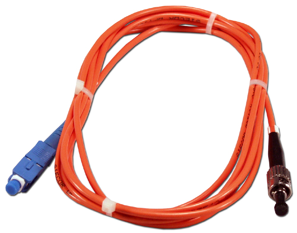 1-Meter ST to SC Multimode Fiber Simplex Patch Cord FSTSC-1M 037229487060