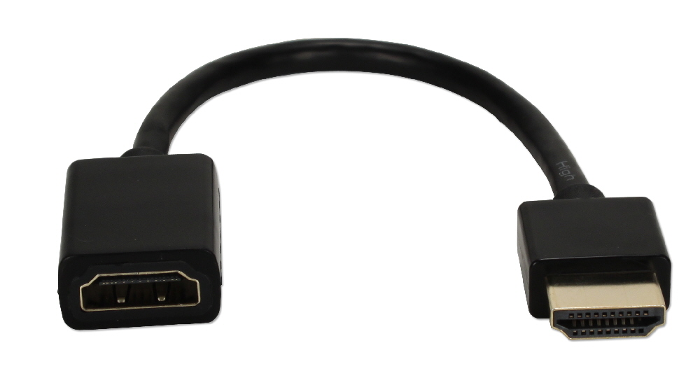 1ft High Speed HDMI UltraHD 4K with Ethernet Thin Flexible Extension Cable HDXT-1F 037229401615