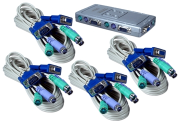 PS/2 4Port KVM Premium Compact Autoswitch with Combo Cable KVMS-14CK 037229542660 ServerMaster KVM Starview Series Kit, 4 PS2 Computers Controlled from 1 Console, Compact, Includes 4 KVM combo cables. IC-614I 788935  KVMS14CK KVMS-14CK  cables    3575  microcenter  Discontinued