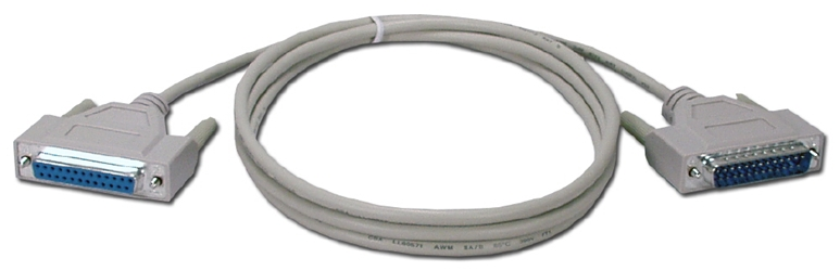 6ft DB25 Male to Female Serial Modem Bulk Cable MC311-06WB 037229411133 Cable, External Modem to PC with DB25 Serial RS232 Port, DB25M/F, 6ft, UL, Bulk MC31106WB MC311-06WB  cables feet foot   3583