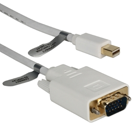 10ft Mini DisplayPort to VGA Video Cable MDPVGA-10 037229009545 Cable, Mini-DisplayPort v1.1 Compliant, Convert Mini-DisplayPort Audio/Video into VGA Video, DP Male to HD15 Male, 10ft 10DP-MDPVGA-10  YW3125 MDPVGA10 MDPVGA-10  cables feet foot   3594 IMCE microcenter Edward Matthews Pending