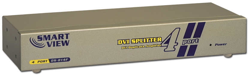 4Port DVI Digital Video Splitter/Distribution Amplifier with 1U Rack Mountable Case MDVI-14 037229006612