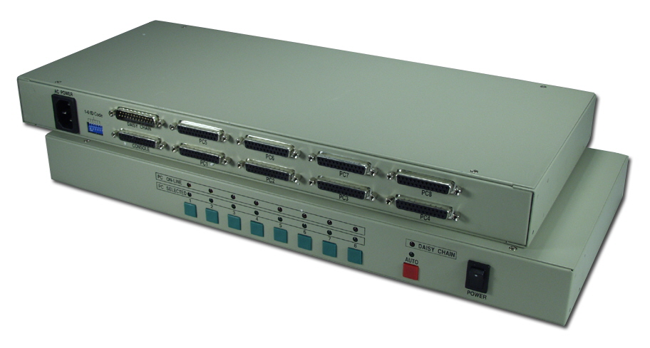 PS/2 & PC/AT 8x1 8Port KVM RackMountable Multimedia Autoswitch with OSD MKR801DR 037229541298
