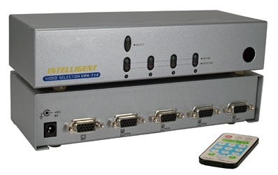 4x1 250MHz 4Port VGA Video Share Switch with Remote Control MSV104RC 037229006322 Video Selector with Built-in Booster and Remote Control, Up to 4 Video, 250MHz Supports VGA/SVGA/Multisync and up to 1920x1440, HD15 VRM-714 81588 TB7322 MSV104RC MSV104RC      3625 IMCE microcenter  Discontinued