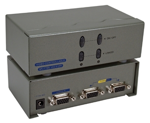 400MHz 2Port VGA Video Splitter/Distribution Amplifier with Port On/Off Switch MSV602P4PC 037229006537