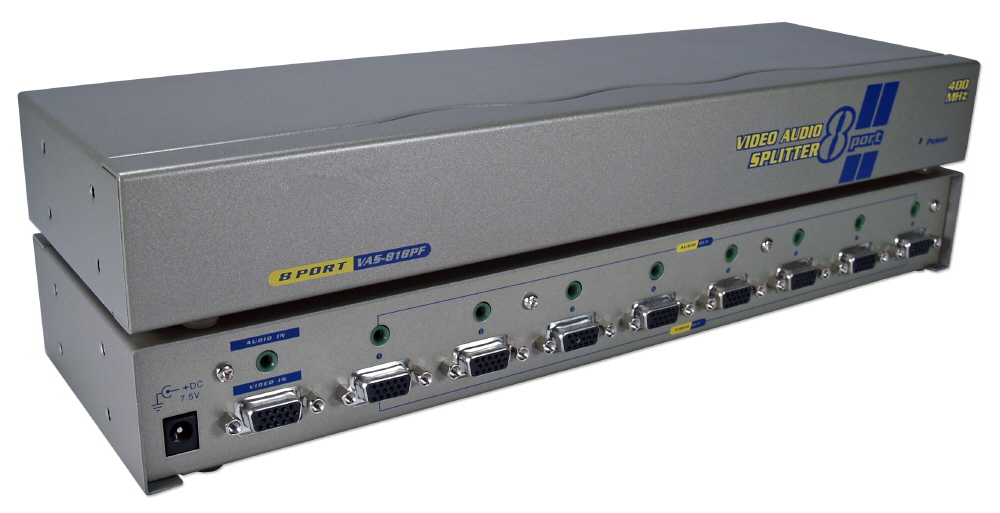 400MHz 8Port VGA Video Splitter/Distribution Amplifier with Audio MSV608P4A 037229006520