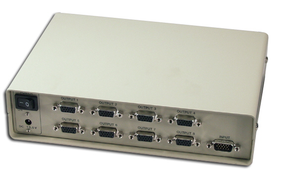 100MHz 8Port VGA Video Splitter/Distribution Amplifier - MSV608