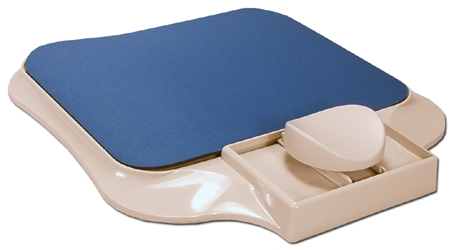 Blue Ergonomic Mouse Stage with Pad MT-5NB 037229317039 Ergononic Mouse Stage with Pad, Navy Blue MT5NB MT-5NB      3649