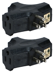 2-Pack 3-Outlets Space-Saver Grounded Power Outlet Splitter PA-3P-2PK 037229231144