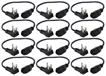 12-Pack 16 Inches 90degree Flat-Plug OutletSaver AC Power Adaptor PPRT-ADPT-12PK 037229231380