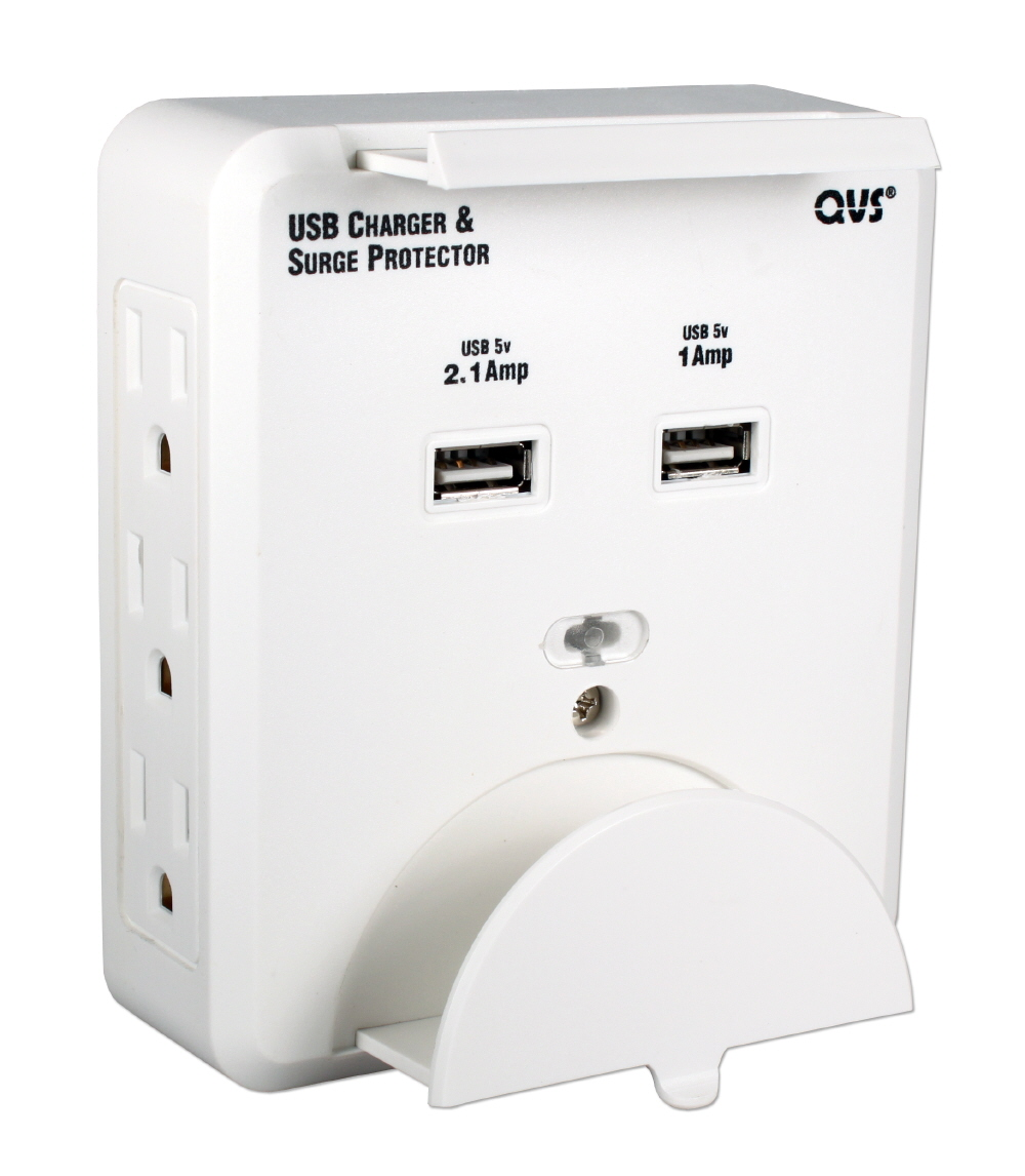 6-Outlet Wallmount Surge Protector with Dual-USB 3.1Amp Charger & Device Holders PS-06UH 037229334265 8-Outlets Surge Protector 3-Prong Wallmounted Power Block/Strip/Tap with Device Holder, 6-AC/2-USB 3.1Amp Charger for Smartphone and Tablets, White PS-05UW  C2604U 243303  PS06UH PS-06UH      3666  microcenter Zachary Sheets Approved