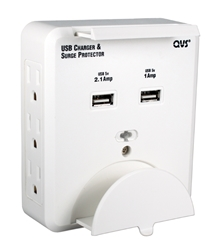 6-Outlets Wallmount Surge Protector with Dual-USB 3.1Amp Charger & Device Holders PS-06UH 037229334265 8-Outlets Surge Protector 3-Prong Wallmounted Power Block/Strip/Tap with Device Holder, 6-AC/2-USB 3.1Amp Charger for Smartphone and Tablets, White PS-05UW  C2604U 243303  PS06UH PS-06UH      3666  microcenter Zachary Sheets Approved