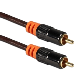 50ft HDTV RCA Premium Digital/SPDIF Subwoofer Audio Coax Cable RCA1A-50 037229400847 Cable, RCA/SPDIF Component/Composite Video/Digital Audio Premium 75ohm Color-coded Shielded Cable, RCA M/M, 50ft RCA1V-50     RCA1A50 RCA1A-050  cables feet foot   3687