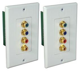 HDTV Component Video with Digital Audio CAT5e Wallplate Extender Kit RCA4AV-C5E 037229007114 4RCA HDTV Component Video with Digital Audio Baluns, RJ45/CAT5e/6 Up to 300ft Wallplate Extender Kit, RCA F/F A-1169  CL5978 RCA4AVC5E RCA4AV-C5E   feet foot   3725 IMCE