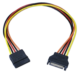 "12 Inches SATA Internal Power Extension Cable SATAPX-12 037229115246 Cable, SATA Serial ATA Internal Power Extension Adaptor, 15Pin M/F, 12"" SATAPX12 SATAPX-12 adapters adaptors cables    3780  microcenter  Rejected"