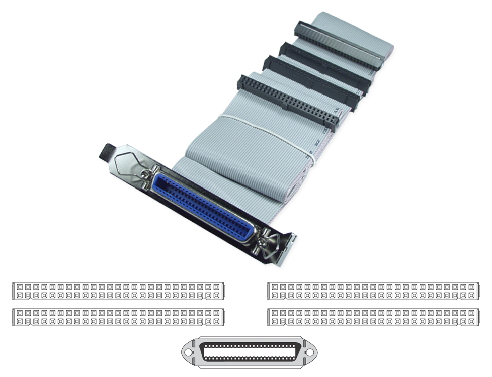 "SCSI 54 Inches IDC50 Three Drives Ribbon Cable plus External Port SCSI-3P 037229939903 Cable, Add a Cen50 External Port from Internal SCSI, (4)IDC50S/(1)Cen50F with Mounting Bracket, 54"" 727743  SCSI3P SCSI-3P  cables    3795  microcenter  Discontinued"
