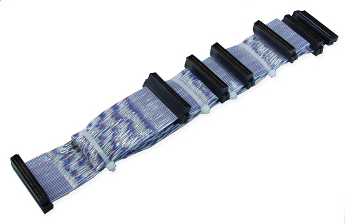 60 Inches Ultra160 SCSI Five Drives PVC Twisted Pairs Ribbon Cable plus a Terminator Connector SCSIU3S-5T 037229223194