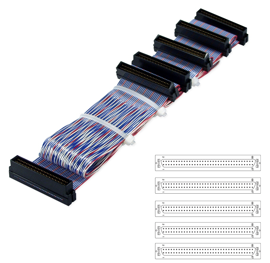59 Inches Ultra160 SCSI Five Drives PVC Twisted Pairs Ribbon Cable SCSIU3S-5 037229110449