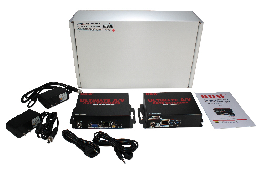Ultimate A/V plus Serial/IR Control Single CAT5e/6 300M Extender Kit - VAS-E