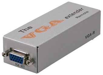 180-Meter VGA/QXGA CAT5/RJ45 Extender System Receiver Module VGA-C5ER 037229006773 VGA/SXGA CAT5e Extender Receiver, Video Signal Splitter/Distribution Amplifier, Up to 180 meters & 1280x1024 resolution, HD15F/RJ45F VGA-R   VGAC5ER VGA-C5ER    meters  3912