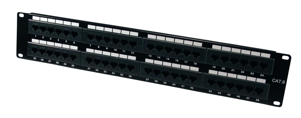 QVS 96 Port 350MHz CAT5E RJ45 110Block Patch Panel