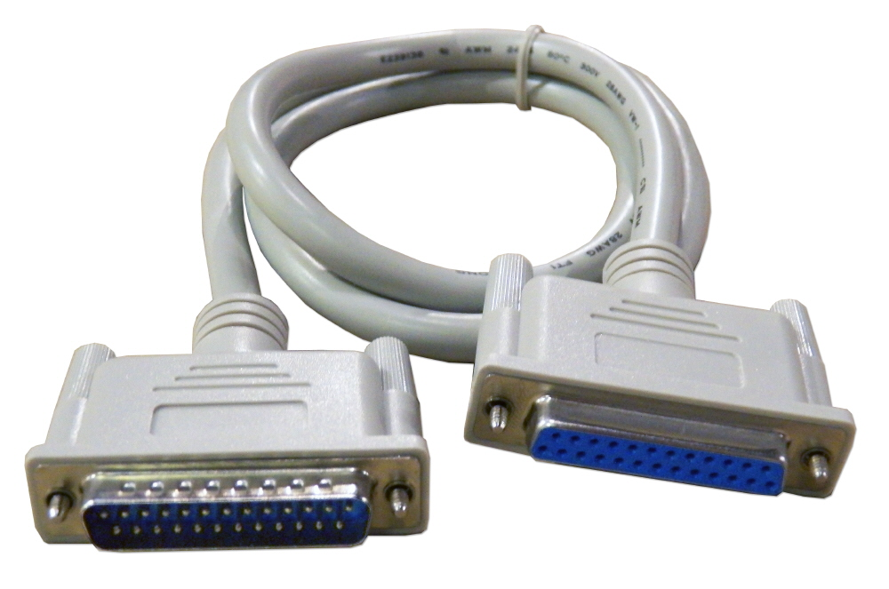 QVS 3ft DB25 Male to Female Fully-Wired Extension Cable for Parallel or Serial Applications