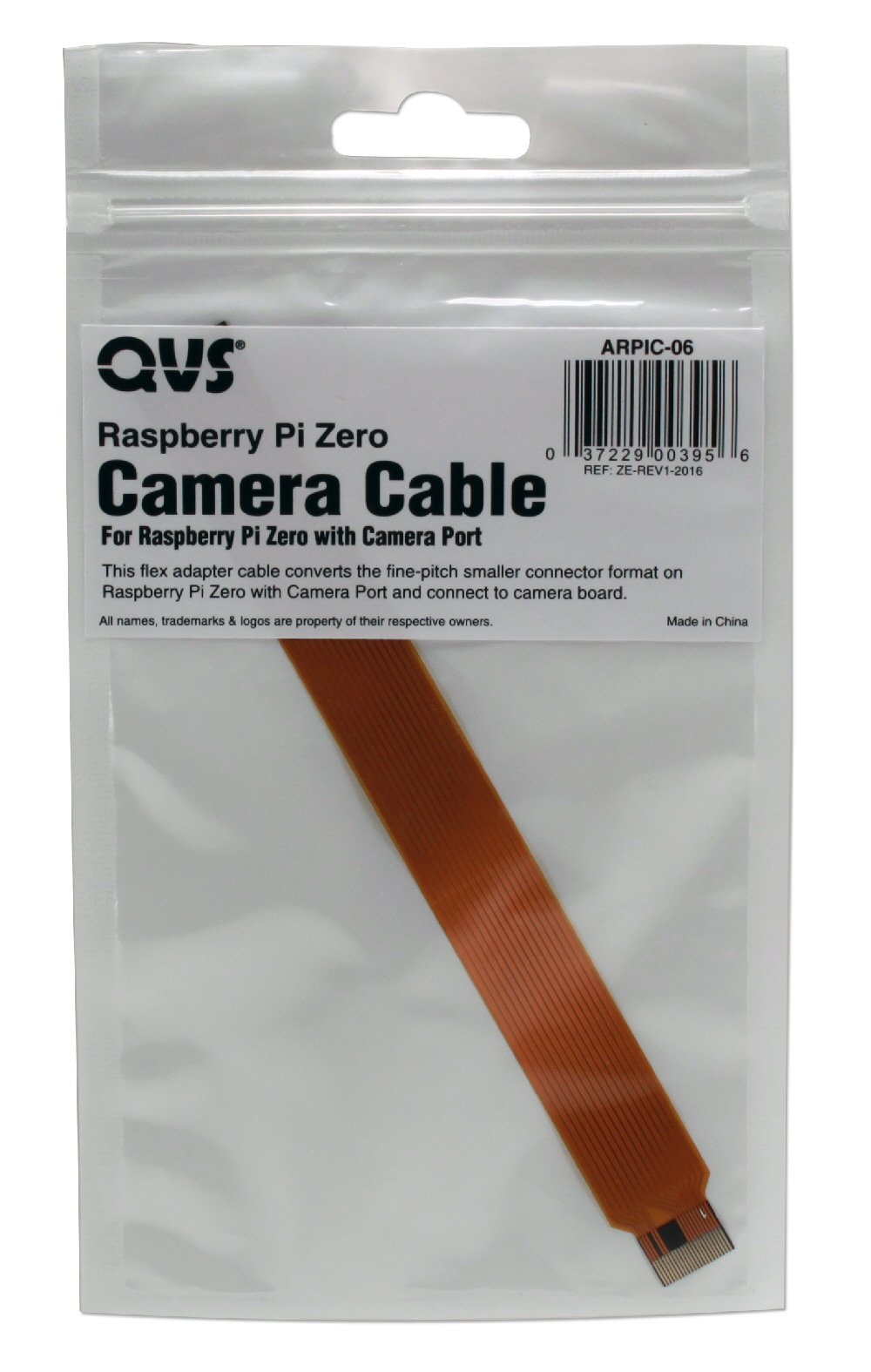 6-Inch Flex Camera Adapter Cable for Raspberry Pi Zero with Camera Port - ARPIC-06