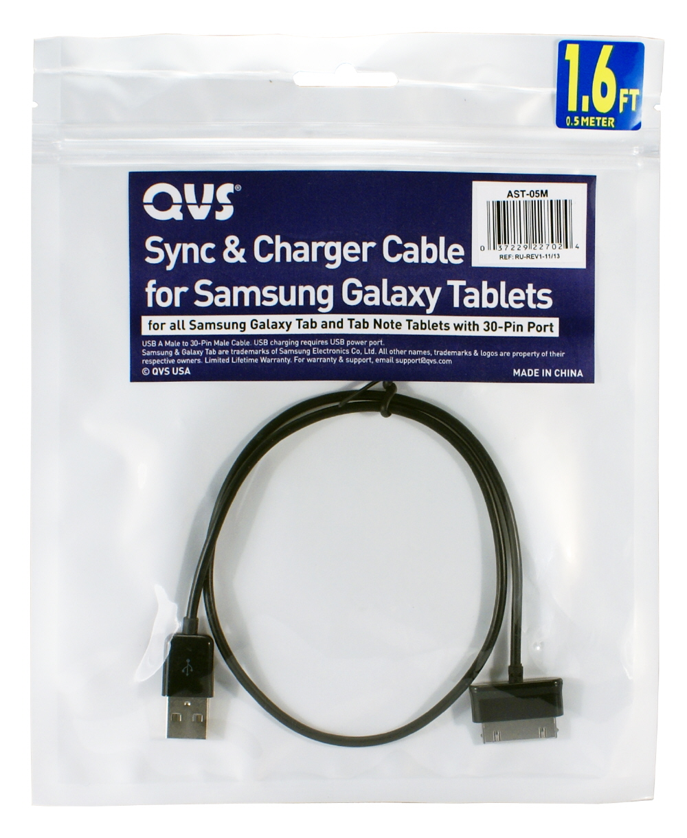 5-Meter USB Sync & 2.1Amp Charger Cable for Samsung Galaxy Tab/Note Tablet - AST-5M