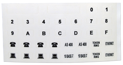 Module Labels for Flexible Wall Plate System C5B-LBL 037229714807 Category 5 - C5B Premium Wall Plate Assemblies, Icon Label for Plate, 4/Bag C5BLBL C5B-LBL      2173