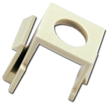 Single ST Fiber Snap Fitting Jack C5ST 037229714791 Category 5 - C5 Basic Wall Plate Assemblies, Module - Fiber ST Insert, Plastic Part Only C5ST C5ST      2207