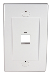 1Port White Wall Plate for Modular Keystone Jack C5WP-1PW 037229715194 Category 5 - C5 Basic Wall Plate Assemblies, Wall Plate, White, 1 Port JE317-V1/WH-UN 540641  C5WP1PW C5WP-1PW      2210  microcenter Eckhardt Discontinued